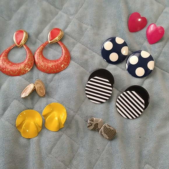Vintage Earring Lot Pierced and one Clip on